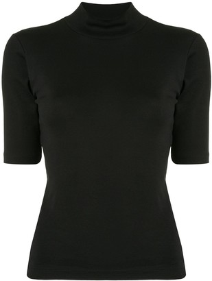 agnès b. Vian roll neck short-sleeved top