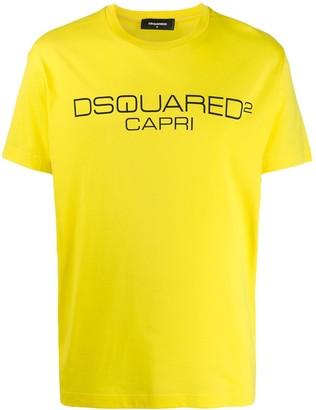 DSQUARED2 Capri logo print T-shirt