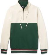 Stüssy - Two-tone Fleece-back Cotton-jersey Half-zip Sweatshirt
