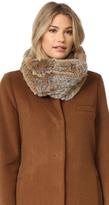 Adrienne Landau Knit Goma Fur Cowl Scarf