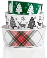 Martha Stewart Collection Set of 3 Melamine Nesting Bowls, Created for Macy's