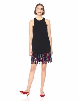 Trina Turk Women's Berry Sleeveless Drop Waist Dress