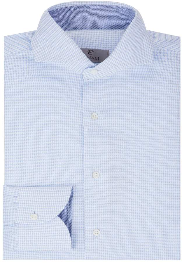 Canali Houndstooth Formal Shirt