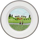 Villeroy & Boch Design Naif Appetizer/Dessert Plate #6 - Boy & Girl 6 3/4 in
