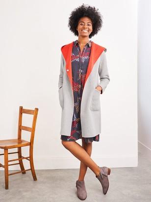 White Stuff Bailey Reversible Wool Coat - Grey