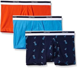 Nautica Men's Classic Cotton Boxer Brief Multi Pack