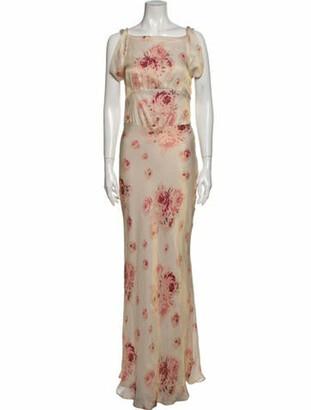 Vilshenko Floral Print Long Dress