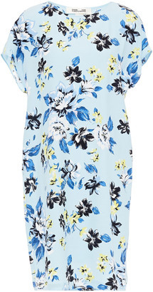 Diane von Furstenberg Floral-print Crepe Mini Dress