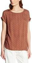 Tom Tailor Women's Loose Fit Sleeveless Blouse - Orange - UK 12