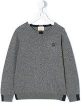 Armani Junior logo jumper - kids - Cotton/Wool - 4 yrs