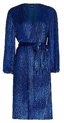 RetrofÃate Women's Audrey Sequin Wrap Dress