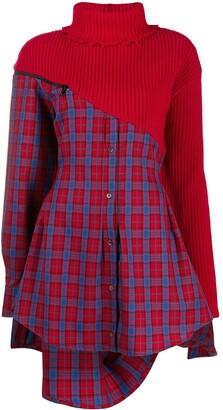 Unravel Project contrast-panel shirt dress