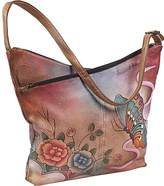 Anuschka V-Top Hobo - Premium Rose Antique