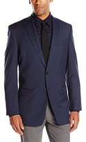 Calvin Klein Men's 100 Percent Wool Check 2 Button Slim Fit Sport Coat