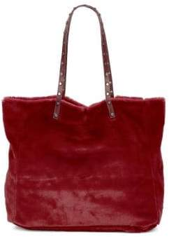 Sam Edelman Faux Fur Nailhead-Trim Tote Bag