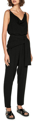 Cue Crepe Tie Front Tapered Pant