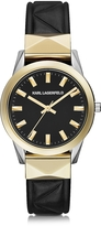 Karl Lagerfeld Labelle Stud Klassic Black and Gold Women's Watch