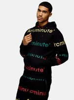 TopmanTopman ARCMINUTE Black All Over Print Hoodie*