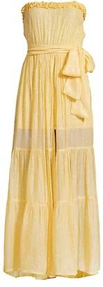 SUNDRESS Jonquille Marbella Strapless Metallic Dress