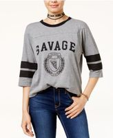 Freeze 24-7 Juniors' Sassy Varsity Stripe Graphic T-Shirt