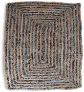Handwoven Denim Hemp 2-Foot x 3-Foot Accent Rug in Blue