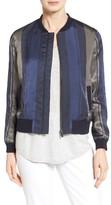 Nordstrom Women's Stripe Woven Bomber Jacket