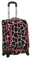 "Rockland Venice 20"" Spinner Carry On Luggage Set - Pink"