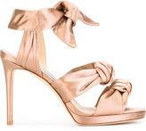 Jimmy Choo Kris 100 sandals - women - Leather/Silk Satin - 35.5