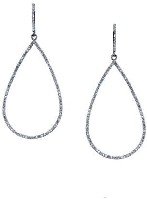 Sheryl Lowe Pave Diamond Open Teardrop Earrings