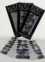 Galaxy Print Nail Stickers - 3 Pack (42 Total Nail Art Wraps) Shooting Stars for Easy Nail Art and Pretty Nails That Are Out of This World - Great for Star Wars Fans