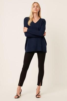 French Connenction Vhari Rib V Neck Sweater