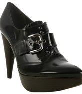 black polished calf 'Mega' booties