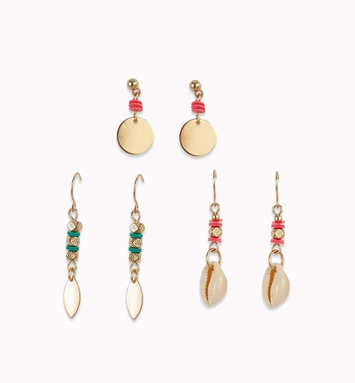 Promod 3 Pairs Of Earrings