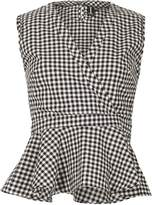 Izabel London Sleeveless Gingham Farm Girl Top