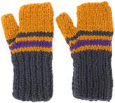 Maison Margiela striped fingerless gloves