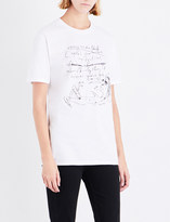 Nick Cave Ladies White Exclusive Fashion Tips Cotton-Jersey T-Shirt