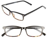 Kate Spade Women's Jodie 50Mm Rectangular Reading Glasses - Black Havana