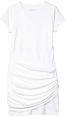 Susana Monaco Short Sleeve Gathered Overlay Dress (Sugar) Women's Dress