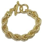 Savvy Cie 18K Gold Plated Bold Rope Toggle Bracelet