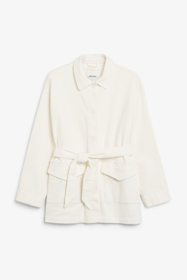 Monki Belted corduroy jacket