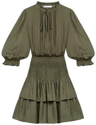 Maje Radji Smocked Mini Dress
