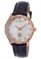 Lucien Piccard Rose Gold & Mother-of-Pearl Balarina Blue Leather-Strap Watch - Women