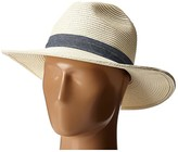 San Diego Hat Company UBM4457 Panama Fedora Hat with Chambray Band (Ivory) Fedora Hats