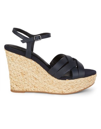 Splendid Madelaine Leather Wedge Sandals