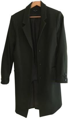 soeur Green Wool Coat for Women