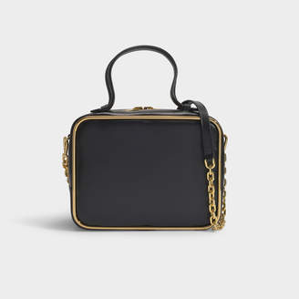 Alexander Wang Halo Large Satchel In Black Calf With Chain Strap