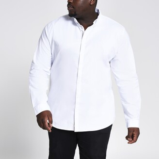 River Island Mens Big & Tall White Oxford Shirt