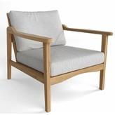 Thorin Deep Seating Teak Patio Chair with Sunbrella Cushions Rosecliff Heights