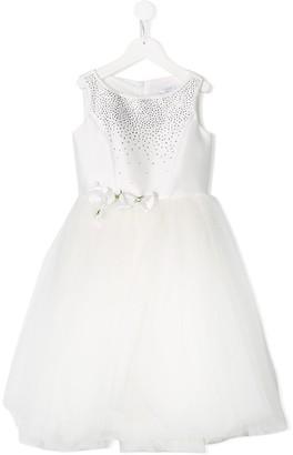 MonnaLisa rhinestone puff skirt dress