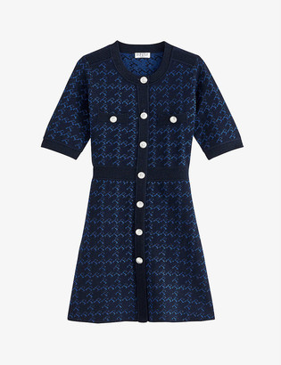 Claudie Pierlot Medaillle wool-blend mini dress